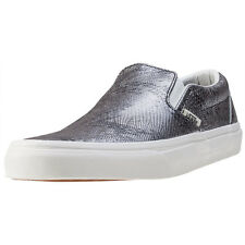 Vans Classic Slip On Disco Python Womens Slip On Black Silver New Shoes