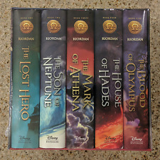 NEW The Heroes of Olympus Hardcover Boxed Set - Complete 5 Book Series