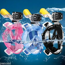 Full Face Snorkeling Mask Diving Scuba Swimming Snorkel Breather Pipe for Gopro