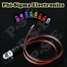 Pre-WIred Ultra Bright LEDs : 9v~12v : Constant / Flashing / Flickering: 3mm 5mm