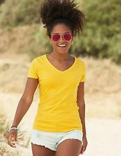 Damen Valueweight V-Neck T Lady-Fit / Belcoro Garn   Fruit of the Loom