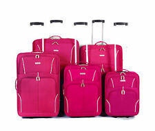 New Eagle Lightweight Luggage Wheeled Trolley Suitcase Case Travel Bag Pink