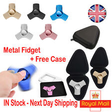 Fidget Finger Metal Alloy Aluminium Hand Spinner Stress Focus EDC Steel Toy UK