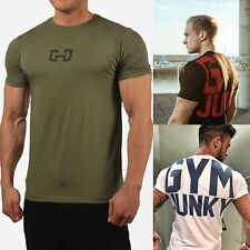 Mens Bodybuilding Gym Muscle Brother Short Sleeve T-shirt Racer Jogging Crossfit