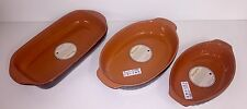 Terracotta Pie Dishes hand made in Italy oval rectangular many 28 34 44 38cm