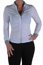 New Casual Gia Womens Smart Office Work Long Sleeve Plain Button Down Shirt Top