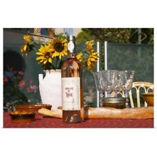 Poster Print Wall Art entitled Table with wine aperitif and appetizers, Cote