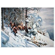 Poster Print Wall Art entitled Lewis and Clark, with their guide Sacagawea in