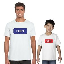 Fathers day gifts, Copy and Paste Father and Kids T-shirts Set of 2