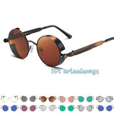 New Round Steampunk Lens Sunglasses Retro Vintage Style Blinders Goggles UV400