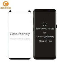 "Mocolo™ Samsung Galaxy S8 / S8+ Plus ""Case Friendly"" 3D Covered Tempered Glass"
