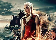 Game of Thrones khaleesi Dragon Collage New Wall Art Large Poster Print