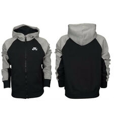 Nike Boys Everett SB Zip Up Hoodie Tracksuit Bottoms Black & Grey