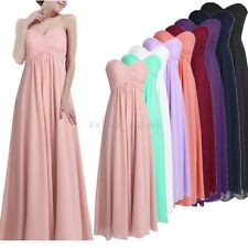 New Long Women's Chiffon Bridesmaid Evening Party Formal wedding Prom Gown Dress