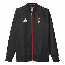 adidas AC MILAN ANTHEM JACKET BLACK TRAINING FOOTBALL MEN'S BLACK RED ITALAIAN