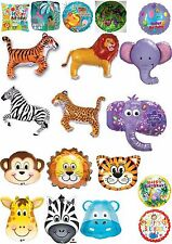 Jungle Safari Foil Balloons With Optional Personalisation Party Decoration