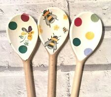 Decorative Decoupage Wooden Spoons using Emma Bridgewater + other Polka dot bees