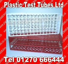 Test tube rack / tray / holder, Holds 90 x 12-13mm tubes,Plastic, Reusable,New