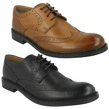 MENS BASE LONDON MAIN MTO LEATHER ROUND TOE LACE UP FORMAL OFFICE BROGUES SHOES
