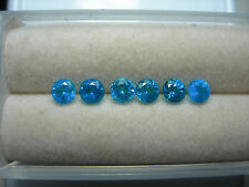 6 rare NEON Blue Apatite gems Madagascar Natural Untreated gemstone portuguese