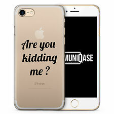 iPhone Hülle SLIM - Are You Kidding Me? Case Cover - Sprüche Cool Frech Witzig L