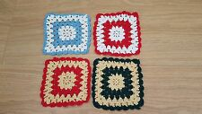 Miniature crochet blanket bedspread 1:24th scale dolls house handmade 11cm