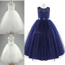 Kid Princess Bridesmaid Flower Girl Dresses Formal Wedding Party Prom Communion