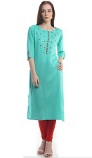 Indian Bollywood Designer Lagi Printed Rayon Kurti Ethnic Style Dress Top Tunic