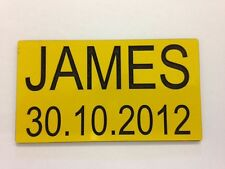 ENGRAVED NP1 NUMBER PLATES FOR CHILDRENS LITTLE TIKES COZY COUPE RIDE ON TOYS