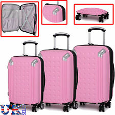 Hard Shell 8 Spinner Wheel Suitcase Trolley Travel Bag Case Luggage Expandable