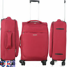 New 8 WHEELED SPINNER 20 24 28 32 Inch TRAVEL TROLLEY LUGGAGE SUITCASE BAG RED