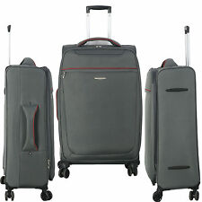 New 8 WHEELED SPINNER 20 24 28 32 Inch TRAVEL TROLLEY LUGGAGE SUITCASE BAG GREY