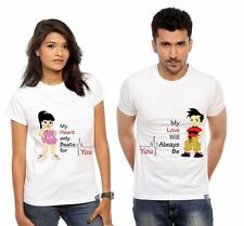 Beautiful Couple T-Shirts For Lover Couple Hum Tum Love Hot Sexy CottonT-Shirts