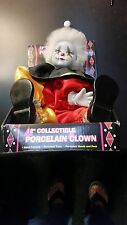12 Inch Vintage Hand Painted Collectible Porcelain Clown Doll Original Package