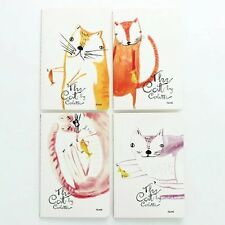 Cute Kitten Cats Catching Fish A5 Lined Page Notebooks