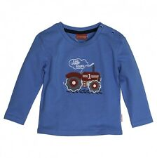 Salt and Pepper Baby Jungen Langarmshirt Traktor in malibu blue