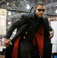 NEW Wesley Snipes Blade Trinity Genuine Leather Men Long Jacket Coat