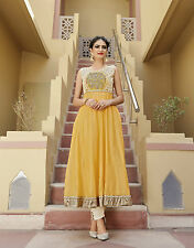 Shanaya Fabulous Yellow Silk Designer Kurti / Kurta / Top