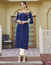 Shanaya Gorgeous Blue Silk Straight Designer Kurti / Kurta / Top