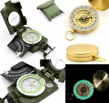 Army Sighting Optic Precision/Noctilucent Pocket Compass Survival Hiking Camping