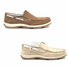 SCARPE UOMO MOCASSINI PELLE NABUK COLOR CUOIO, BEIGE FREEMOOD MADE IN ITALY