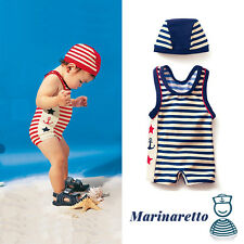 Costumino Mare Bimbo Marinaretto +Cuffietta mod.2017 Swimsuit Sailor style