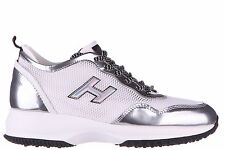 HOGAN SCARPE SNEAKERS DONNA IN PELLE NUOVE INTERACTIVE LYCRA H FLOCK BIANCO AEA
