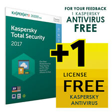 Kaspersky Internet or Total Security 2017 10 Pc FREE Shipping or 1 FREE License*