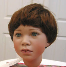 TODDLER DOLL WIG Light Brown size 8-9 NEW short, straight for all types of DOLLS