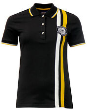 Donna Wigan Casino CORSA CLASSICA Polo a righe - wc2073 Nero