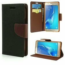 DAIRY WALLET FLIP CASE COVER FOR SAMSUNG GALAXY ALL MODELS -BLACK/BROWN