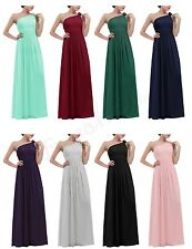 Long Women Ladies Formal Chiffon Ball Gown Bridesmaid Dress Party Evening Prom