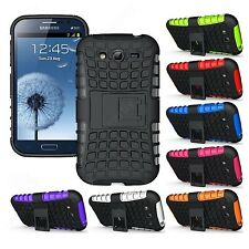 Heartly Flip Kick Stand Spider Armor Case Cover Samsung Galaxy Grand Duos i9082