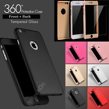 Luxury Ultrathin Shockproof Hybrid 360 Case Cover for Apple iPhone 8 7 6S 5S SE